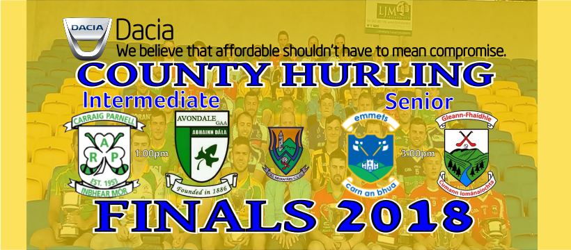 Dacia Hurling Finals day Has Arrived