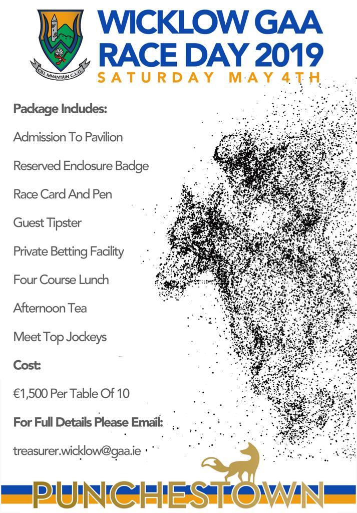 Wicklow GAA Punchestown Race Day