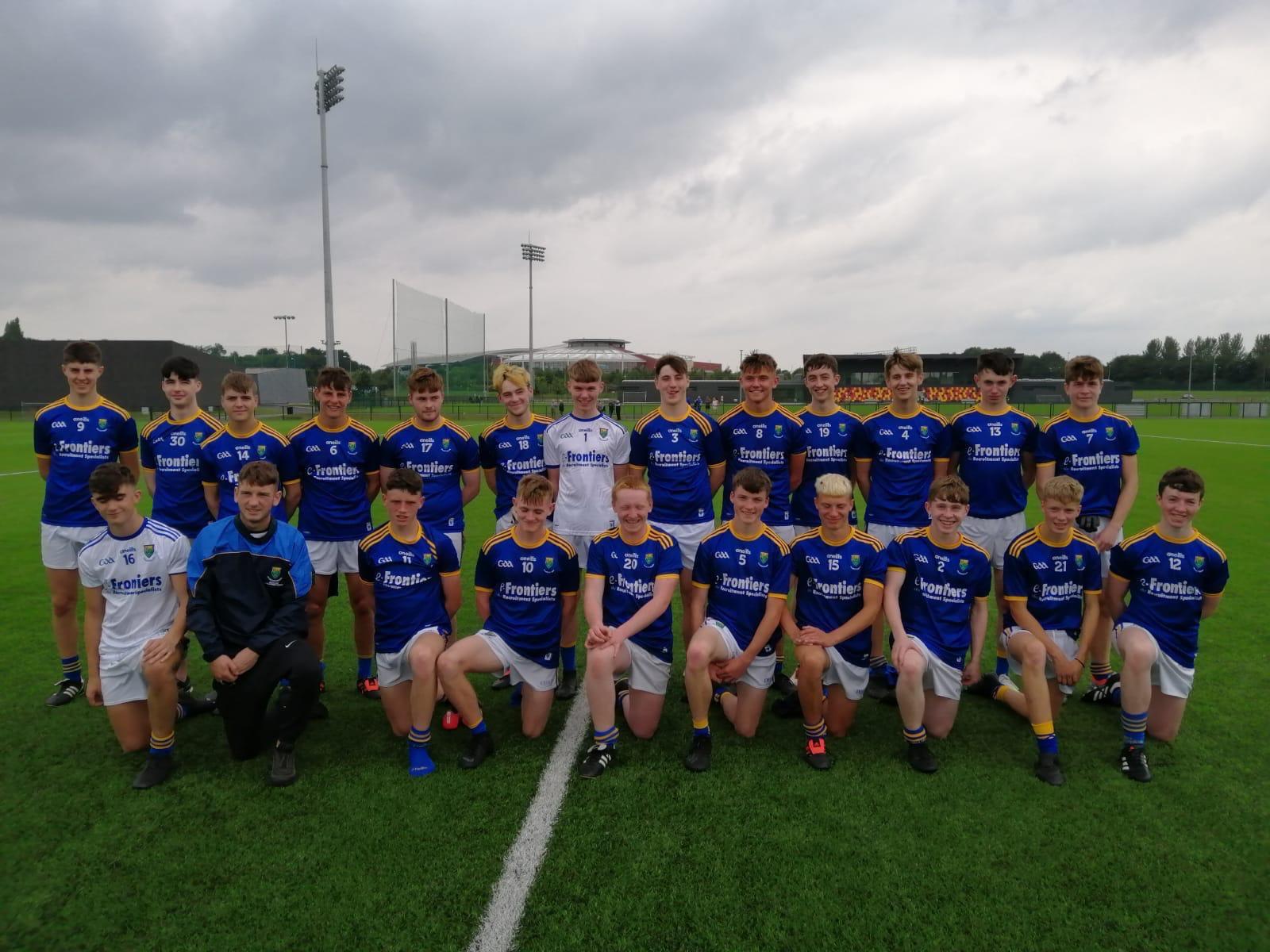 U-16 Footballers in Gerry Reilly final