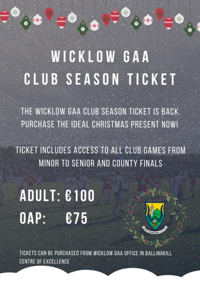 Wicklow GAA Club Season Ticket 2020