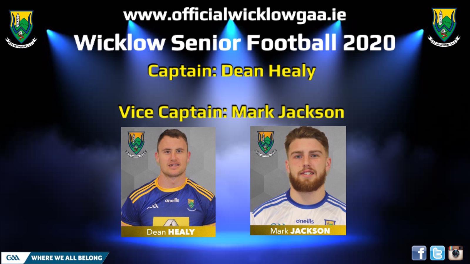 Wicklow Senior Football Captain 2020 announced
