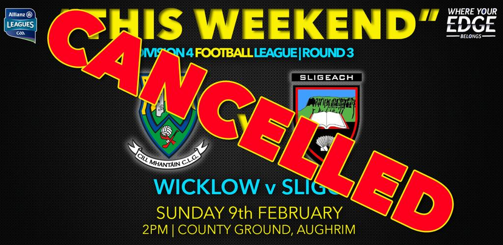 Wicklow v Sligo OFF