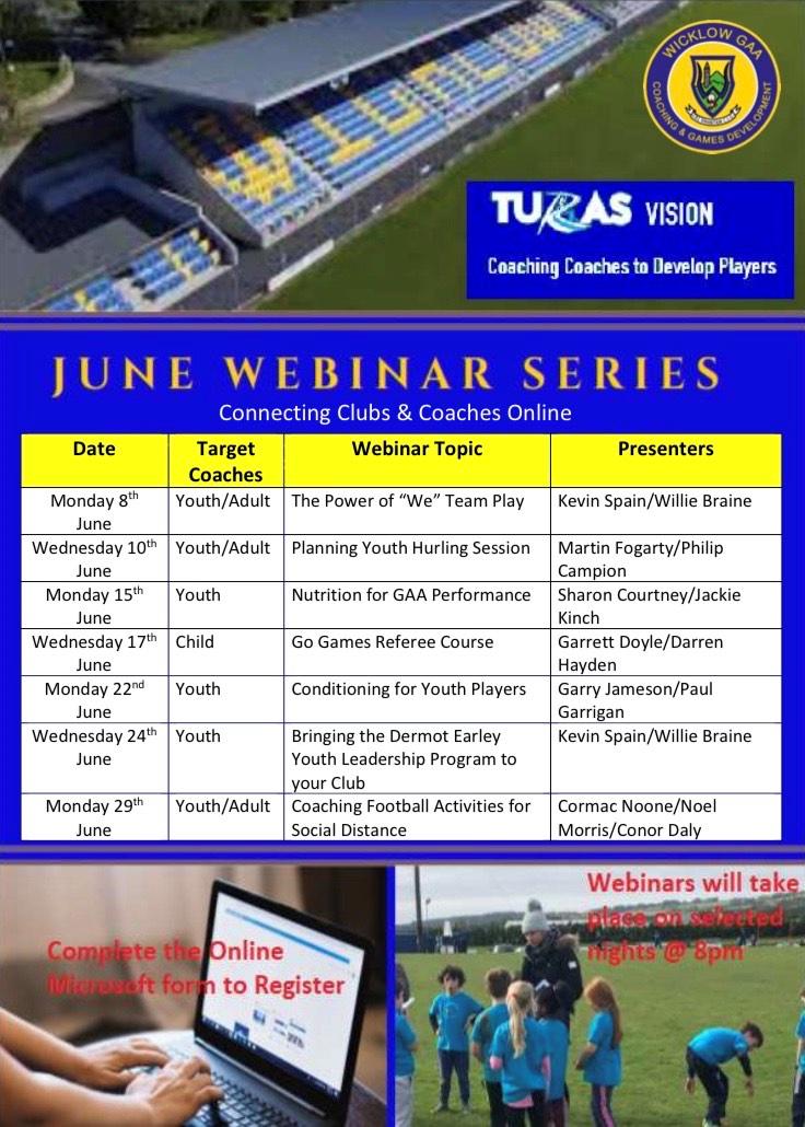 Coaching & Games June Webinars