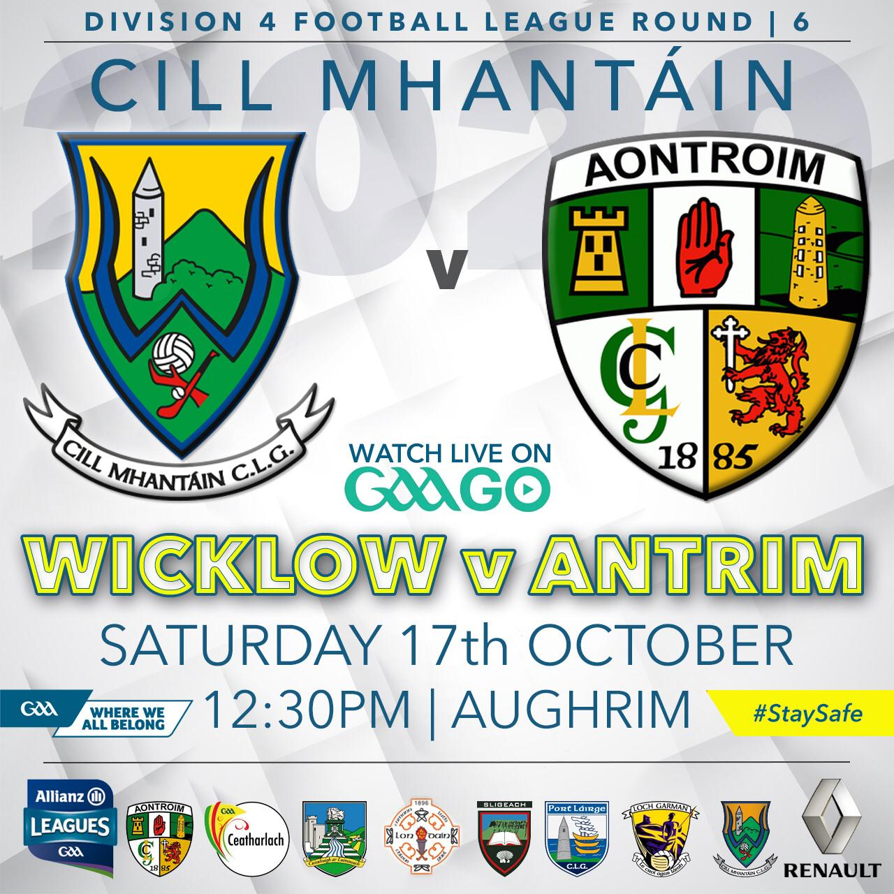 Allianz Football League Wicklow v Longford Programme