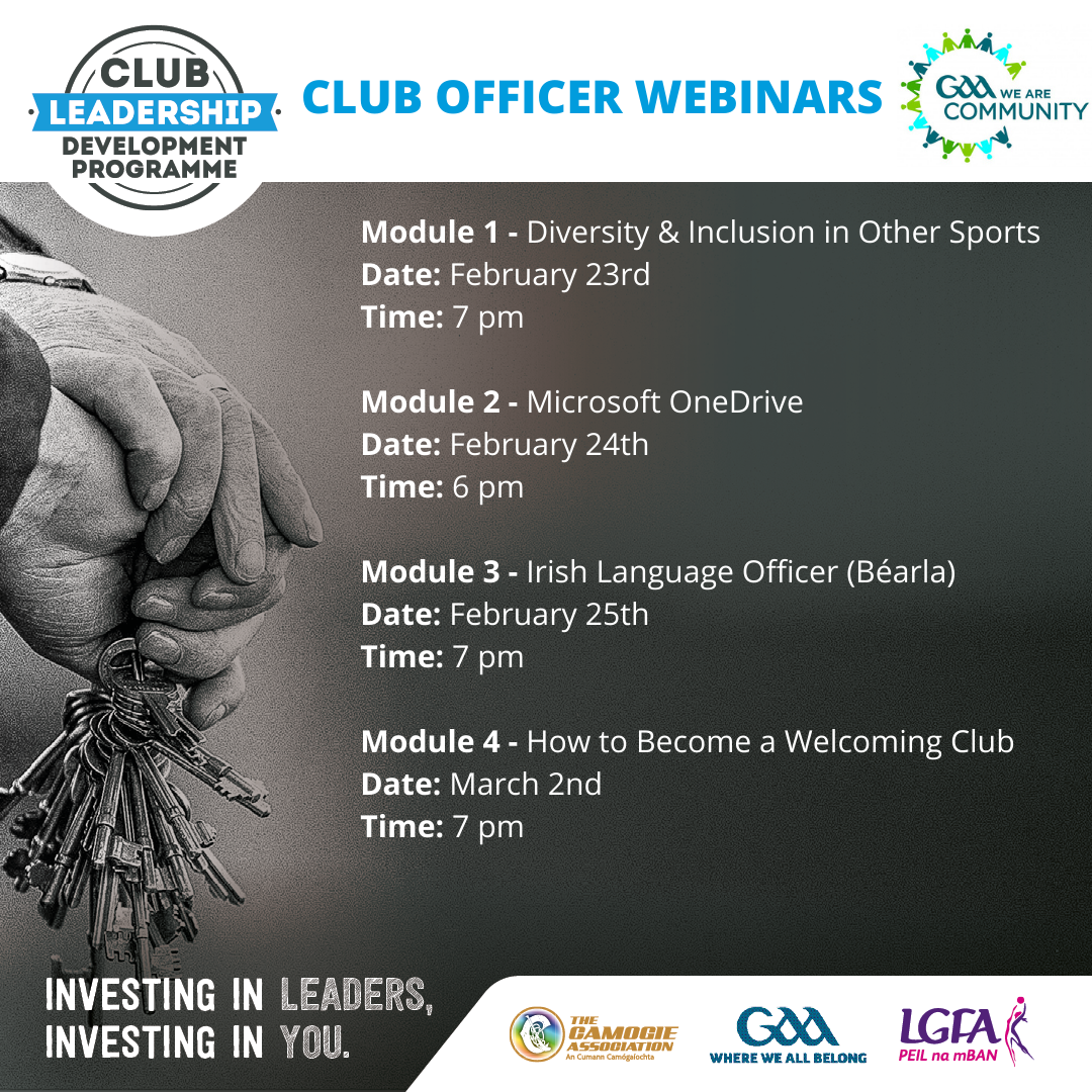 Club Officer Webinars – February & March