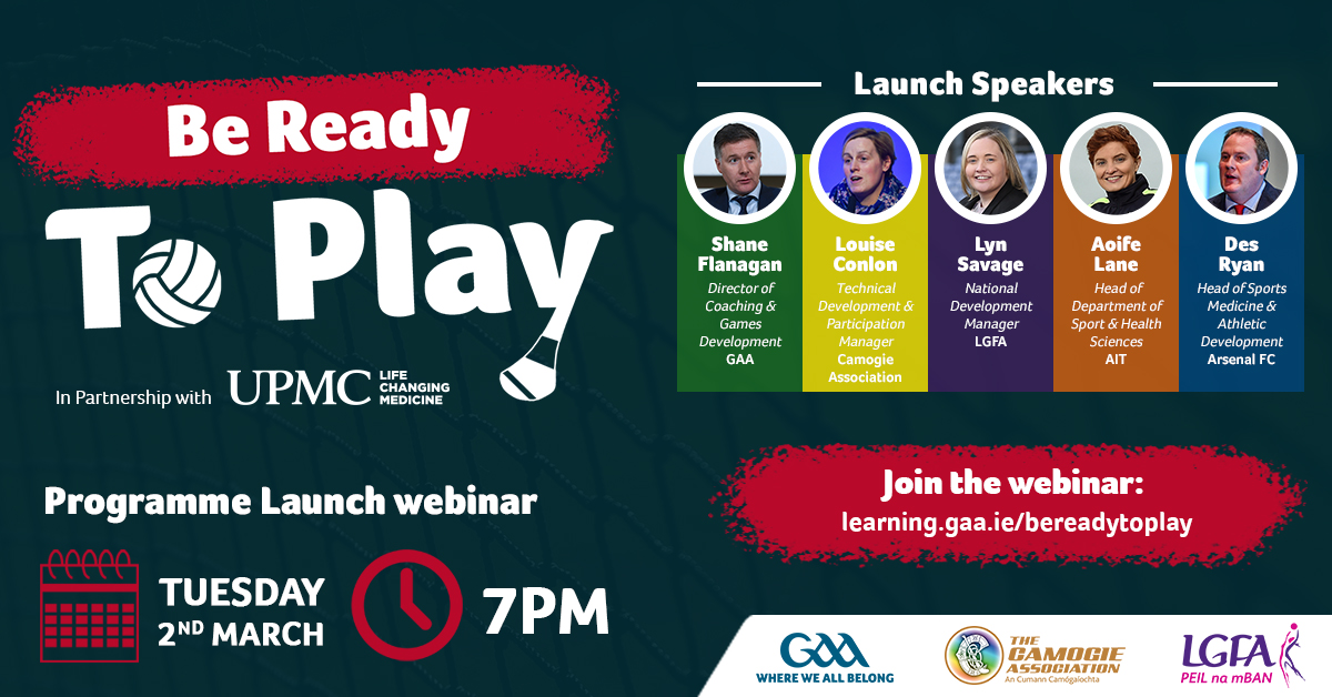 'Be Ready to Play Programme' launch