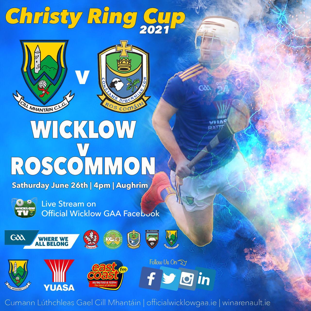 Christy Ring Wicklow v Roscommon programme