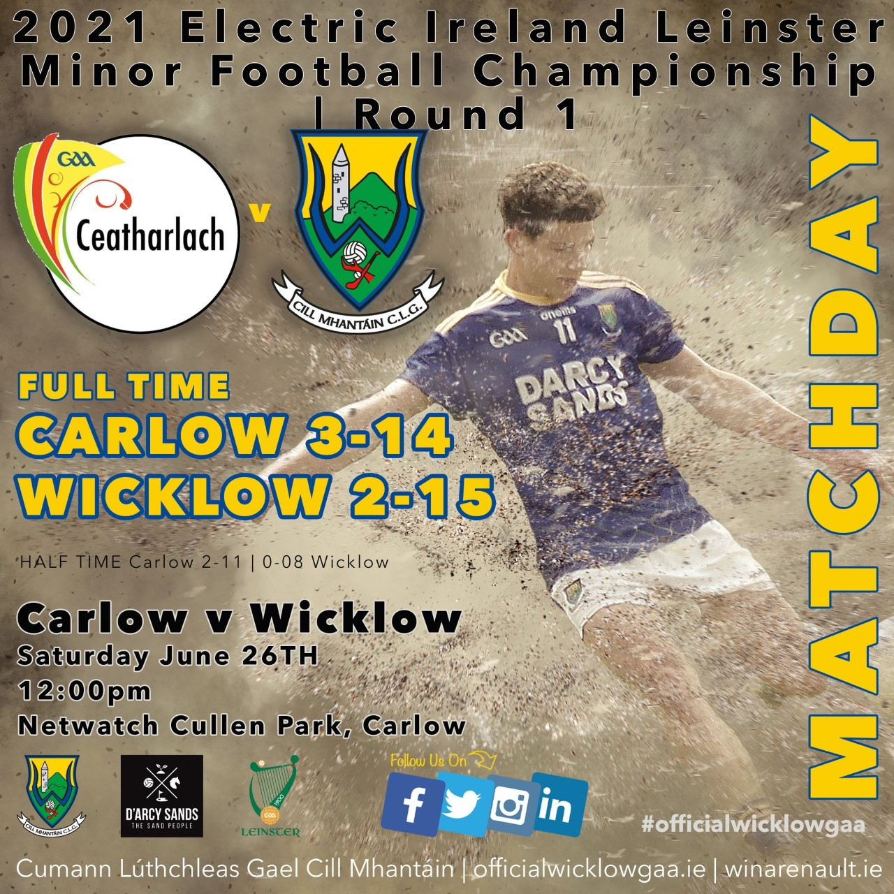 Goals the difference in Carlow