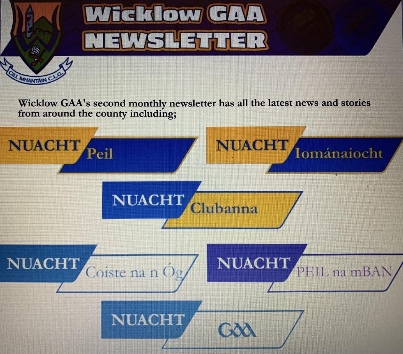 Wicklow GAA Newsletter